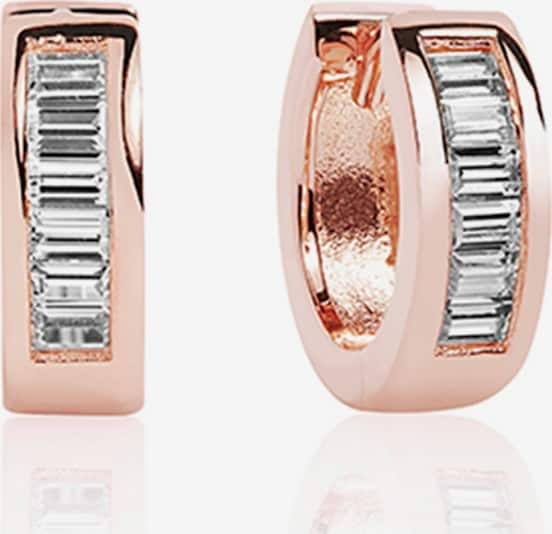 Sif Jakobs Creole 'Corte Baguette' in rosegold, Produktansicht
