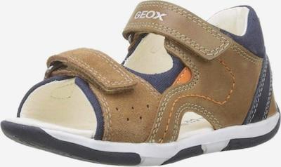 GEOX Open schoenen in de kleur Beige / Bruin / Donkergrijs / Sinaasappel, Productweergave