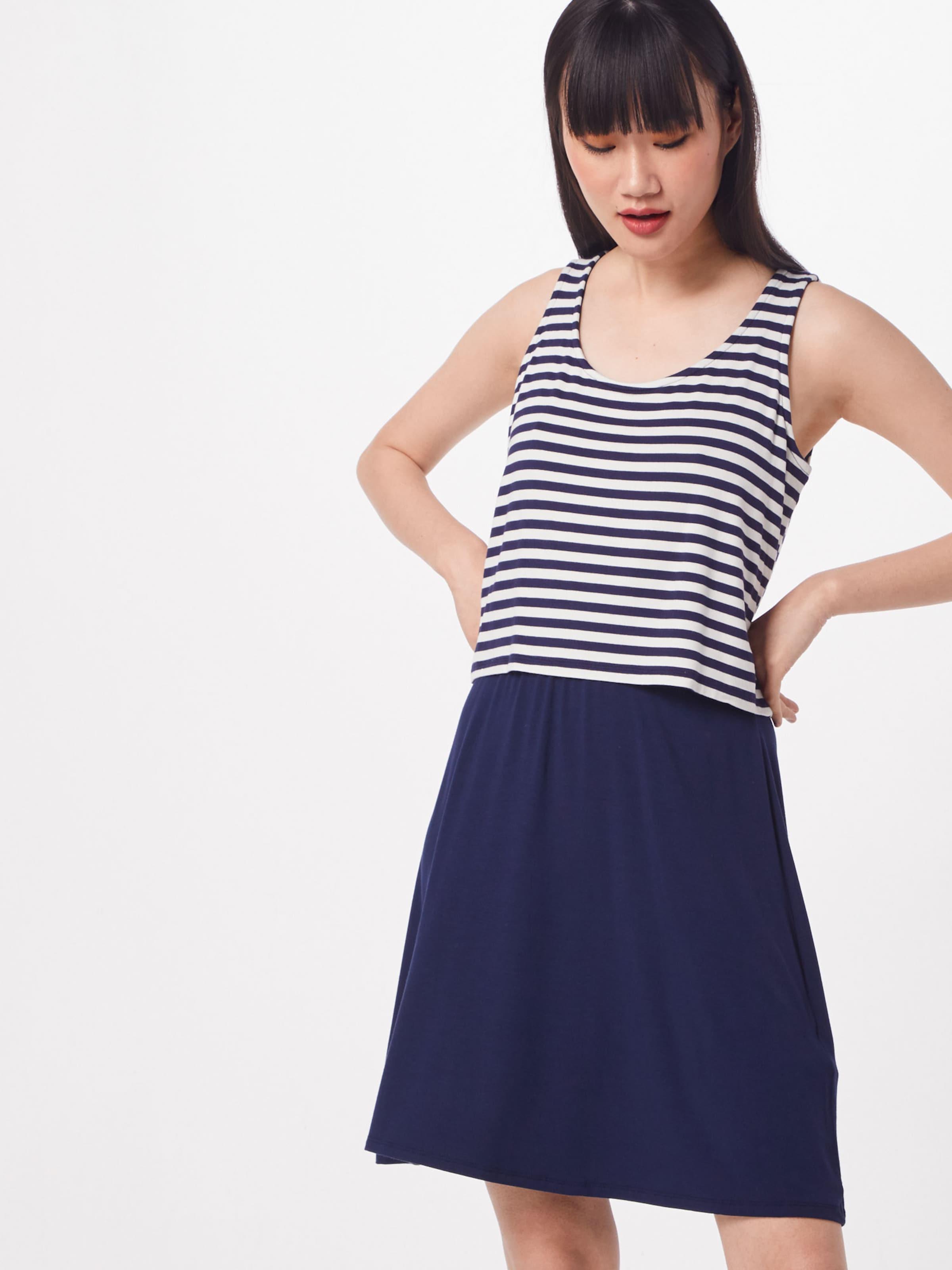 Esprit Kleid NavyWeiß In Kleid 'layering' Esprit nwP80OkX