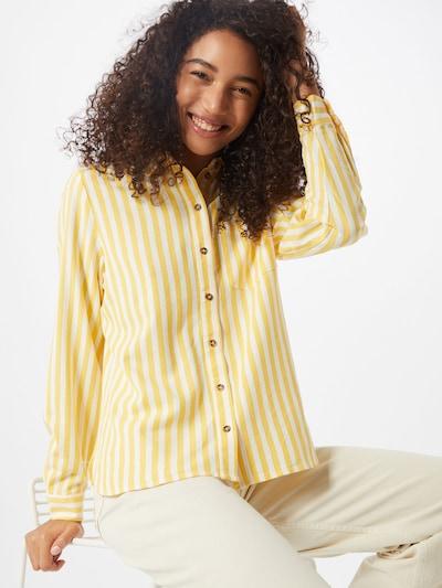 VERO MODA Blouse 'VMHELENMILO' in de kleur Geel / Wit, Modelweergave