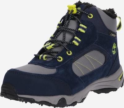 TIMBERLAND Boots 'Ossipee Mid Bungee GTX WL' en bleu marine / gris / vert fluo, Vue avec produit