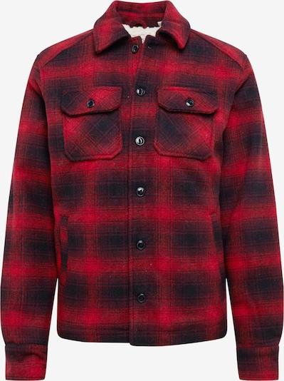 Schott NYC Jacke 'TIMBER1' in rot / schwarz, Produktansicht