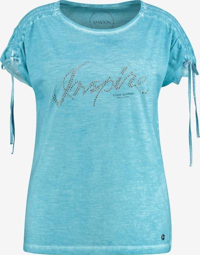 SAMOON Shirt in blau / schwarz / silber, Produktansicht