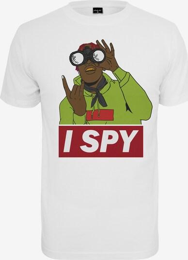 Mister Tee T-Shirt 'I spy' in mischfarben / weiß: Frontalansicht