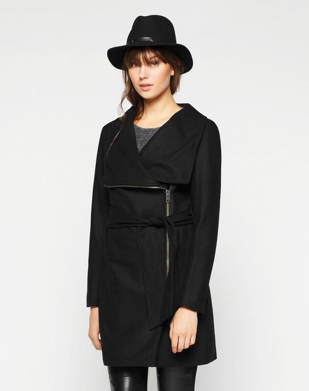 Mbym Asymmetrischer Mantel Mantel Mantel 'Mika' in schwarz  Freizeit, schlank, schlank 1d5b8a