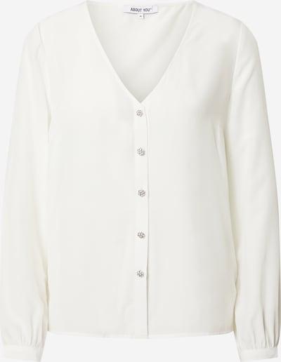 ABOUT YOU Bluza 'Floria' | bela barva, Prikaz izdelka