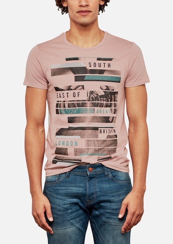 Q/S designed by T-Shirt mit Print-Collage