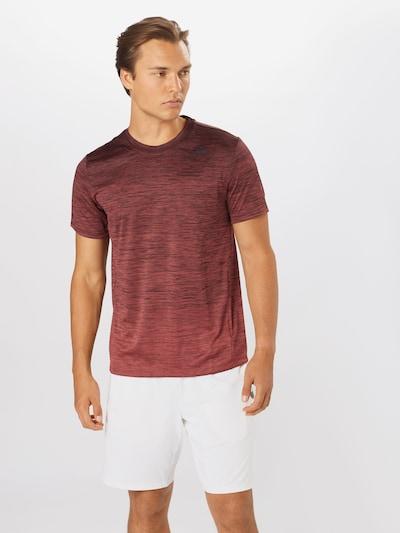 ADIDAS PERFORMANCE Funkčné tričko - červená melírovaná: Pohľad spredu