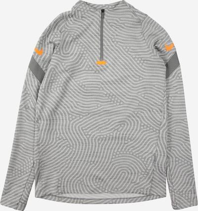 NIKE Sweat de sport 'Strike' en gris clair / gris foncé / gris chiné / orange, Vue avec produit