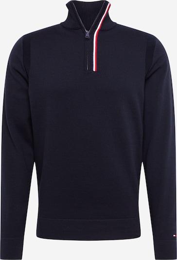 TOMMY HILFIGER Pullover in rot / schwarz / weiß, Produktansicht