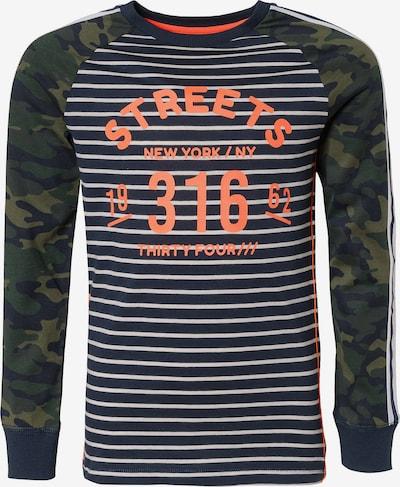 WE Fashion Langarmshirt in blau / grün / orange, Produktansicht