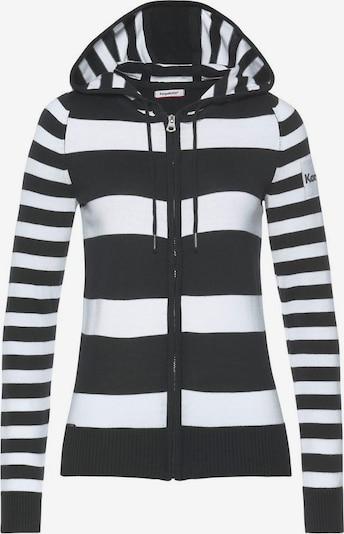 KangaROOS Strickjacke in schwarz / weiß, Produktansicht