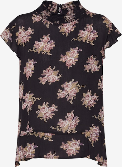 ONLY Blouse 'EMMA SMOCK' in de kleur Zwart, Productweergave