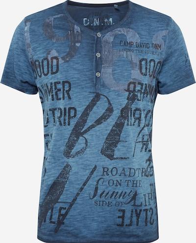 CAMP DAVID T-Shirt in dunkelblau / blaumeliert / schwarz, Produktansicht