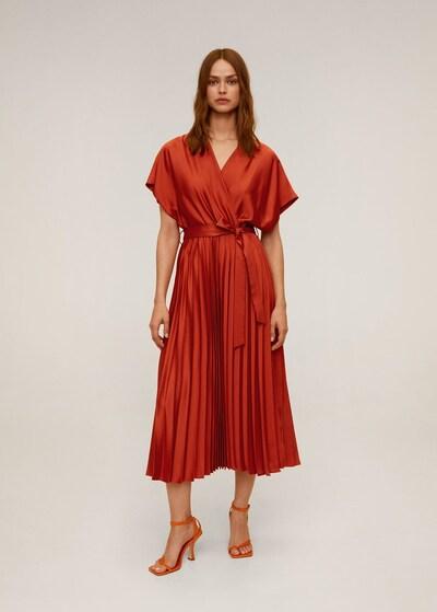 MANGO Kleid 'dancing' in orange, Modelansicht