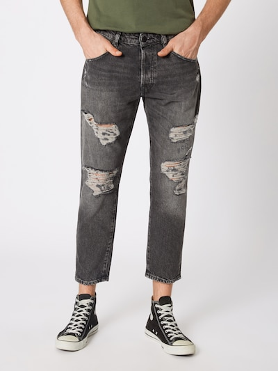 JACK & JONES Jeans 'FRANK LEEN JOS 079' in black denim, Modelansicht