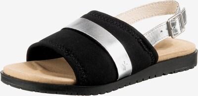 EMU AUSTRALIA Sandale 'Bryce' in schwarz / silber, Produktansicht