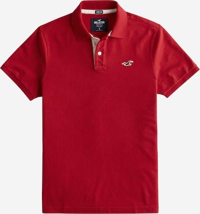 HOLLISTER Poloshirt 'Heritage' in rot / weiß, Produktansicht