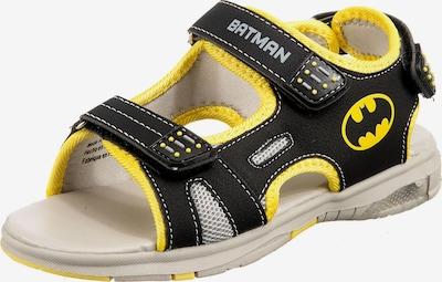 Batman Sandale in gelb / schwarz, Produktansicht