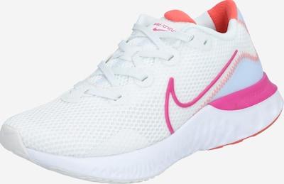 NIKE Chaussure de course 'Renew Run' en bleu clair / rose / blanc, Vue avec produit
