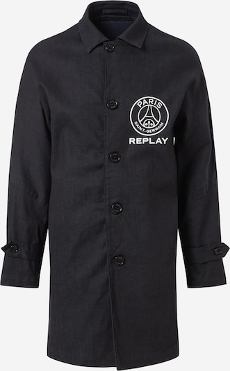 REPLAY Jacke in dunkelblau / weiß, Produktansicht