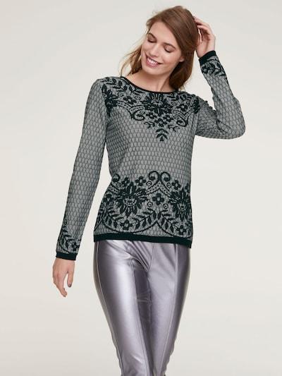 heine Sweter w kolorze czarny / białym: Widok z przodu