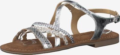TAMARIS Sandały z rzemykami w kolorze srebrnym, Podgląd produktu