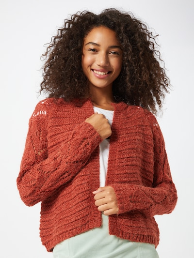 ONLY Strickjacke 'VANESSA' in rot, Modelansicht