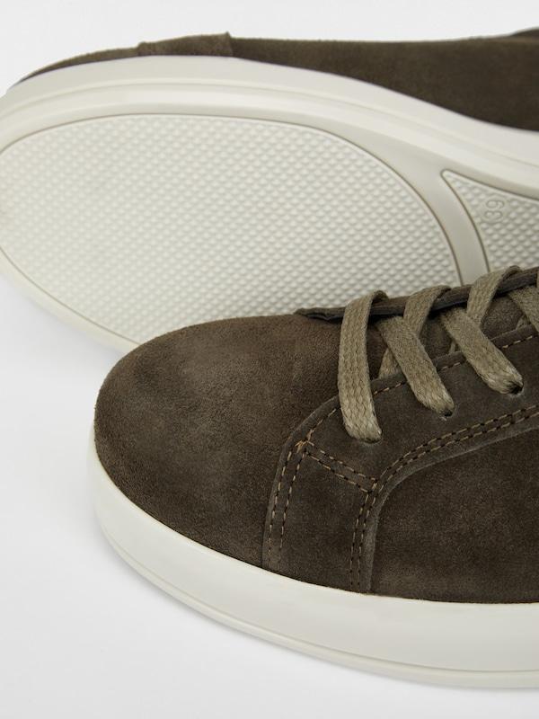 Bianco Flachform Sneaker aus Veloursleder