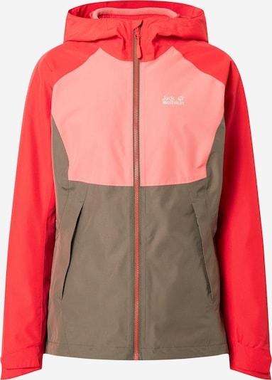 JACK WOLFSKIN Jacke 'Mount Isa 3IN1' in grau / rosa / rot, Produktansicht