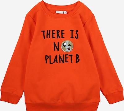 NAME IT Dressipluus 'La Planet' kollakaspunane / must: Eestvaade