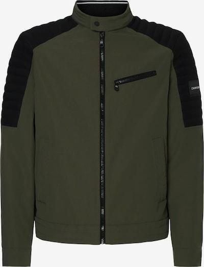 Calvin Klein Bikerjacke in grün / schwarz, Produktansicht