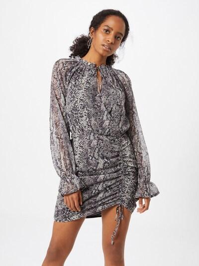 Missguided Kleid 'Snake' in grau / dunkelgrau, Modelansicht