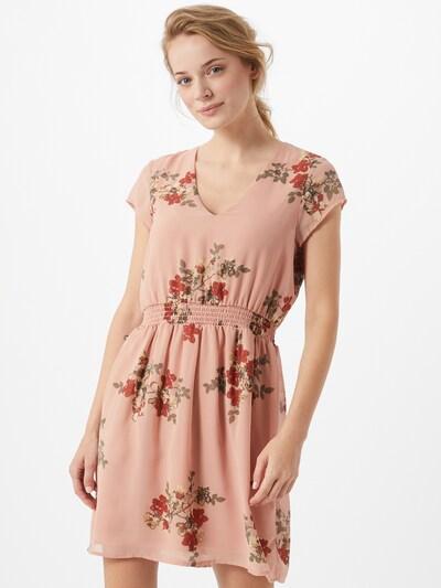 VERO MODA Kleid 'ALLIE' in grün / rosa / rot, Modelansicht