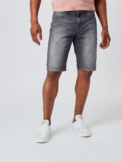TOM TAILOR Shorts in grey denim: Frontalansicht
