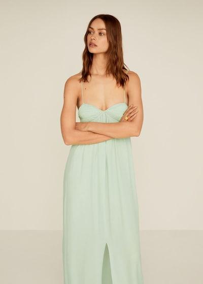 MANGO Kleid in grasgrün, Modelansicht
