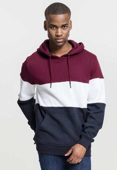 Urban Classics Sweatshirt in nachtblau / weinrot / weiß: Frontalansicht