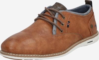 Batai su raišteliais iš MUSTANG , spalva - mėlyna dūmų spalva / ruda / ruda (konjako), Prekių apžvalga
