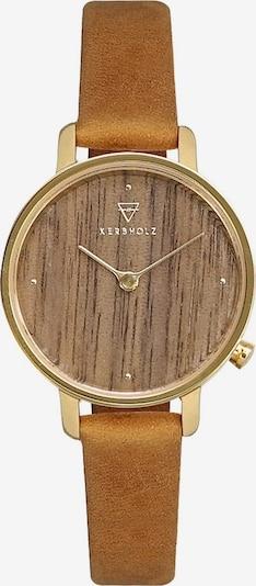 Kerbholz Armbanduhr 'Emma' in braun / gold, Produktansicht