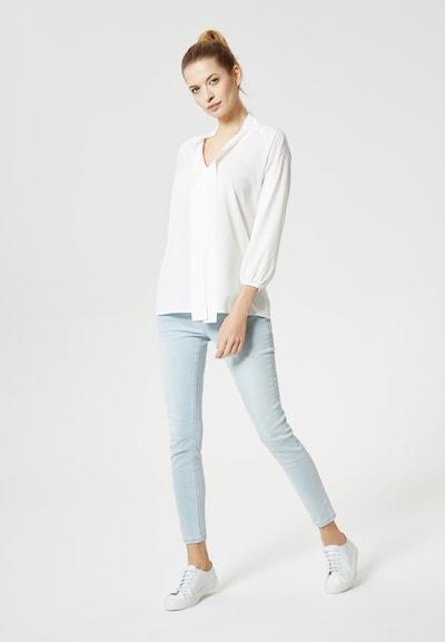 DREIMASTER DreiMaster Maritim Bluse in weiß, Modelansicht
