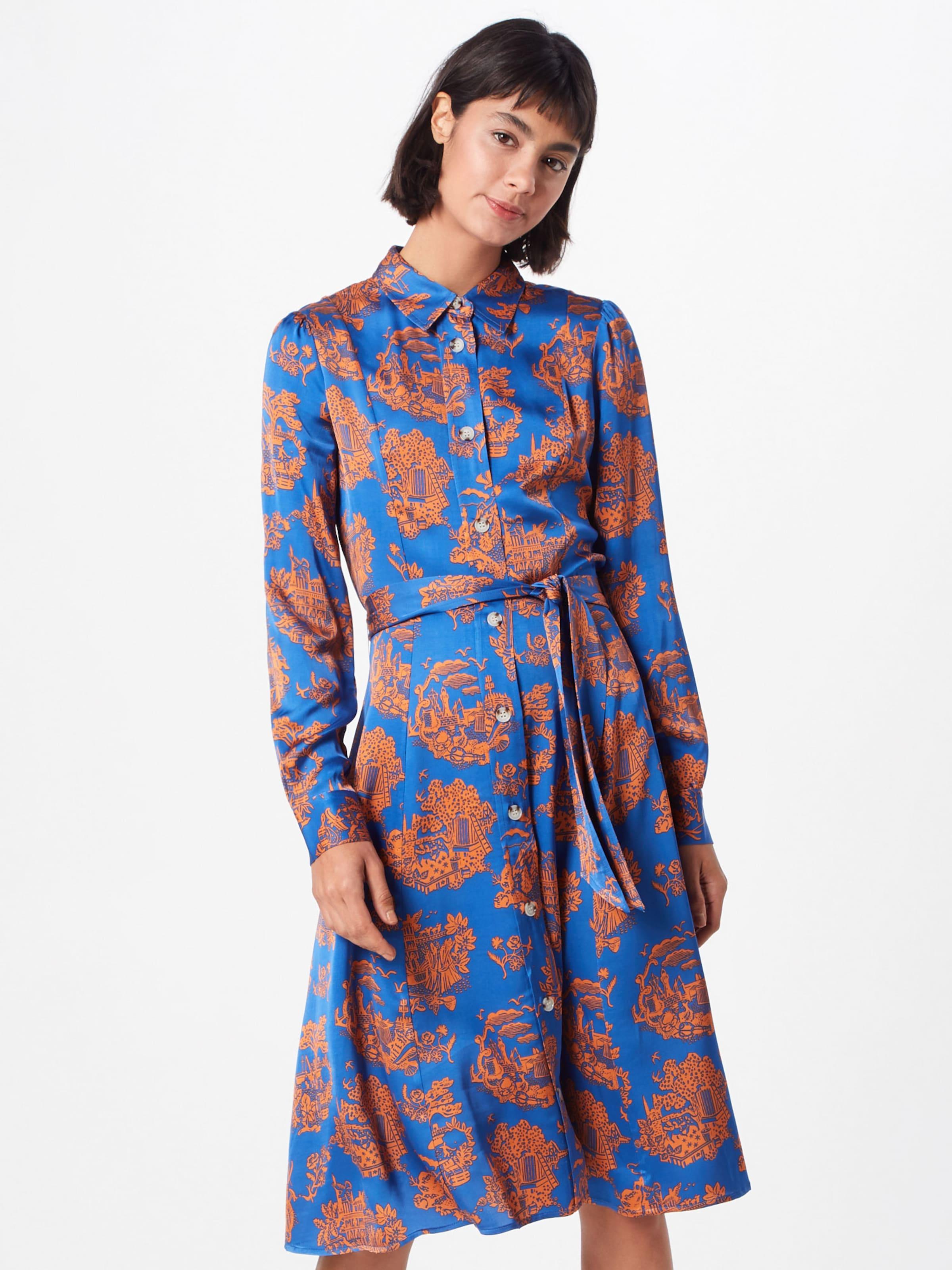 BleuAbricot En Wood Robe chemise 'belinda' 76gYbyvf