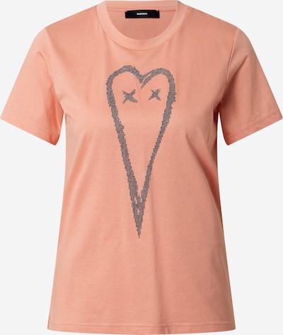DIESEL T-shirt en saumon, Vue avec produit