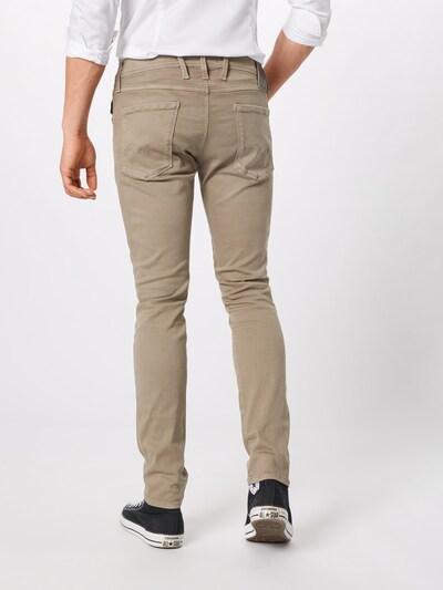 REPLAY Jeans 'ANBASS Hyperflex' in dunkelbeige: Rückansicht