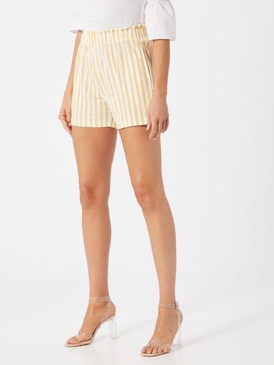 Gina Tricot Shorts 'Kathy' in gelb / weiß, Modelansicht