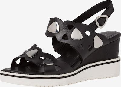 TAMARIS Sandalette in schwarz / silber, Produktansicht