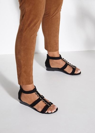 LASCANA Sandalette in schwarz: Frontalansicht