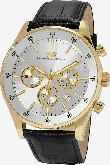 Rhodenwald & Söhne Armbanduhr 'Goodwill' in gold / schwarz / silber: Frontalansicht