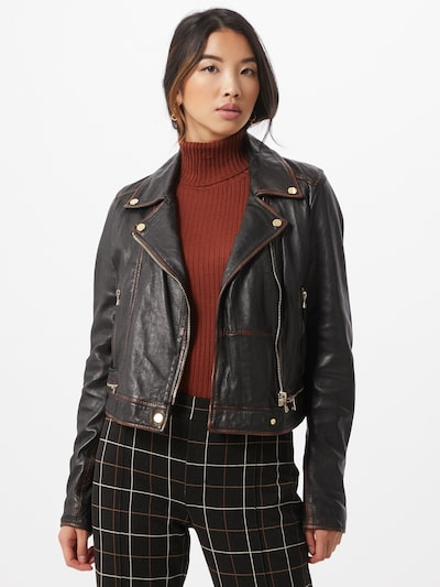 Ibana Přechodná bunda 'Renee-Vintage' - černá: Pohled zepředu