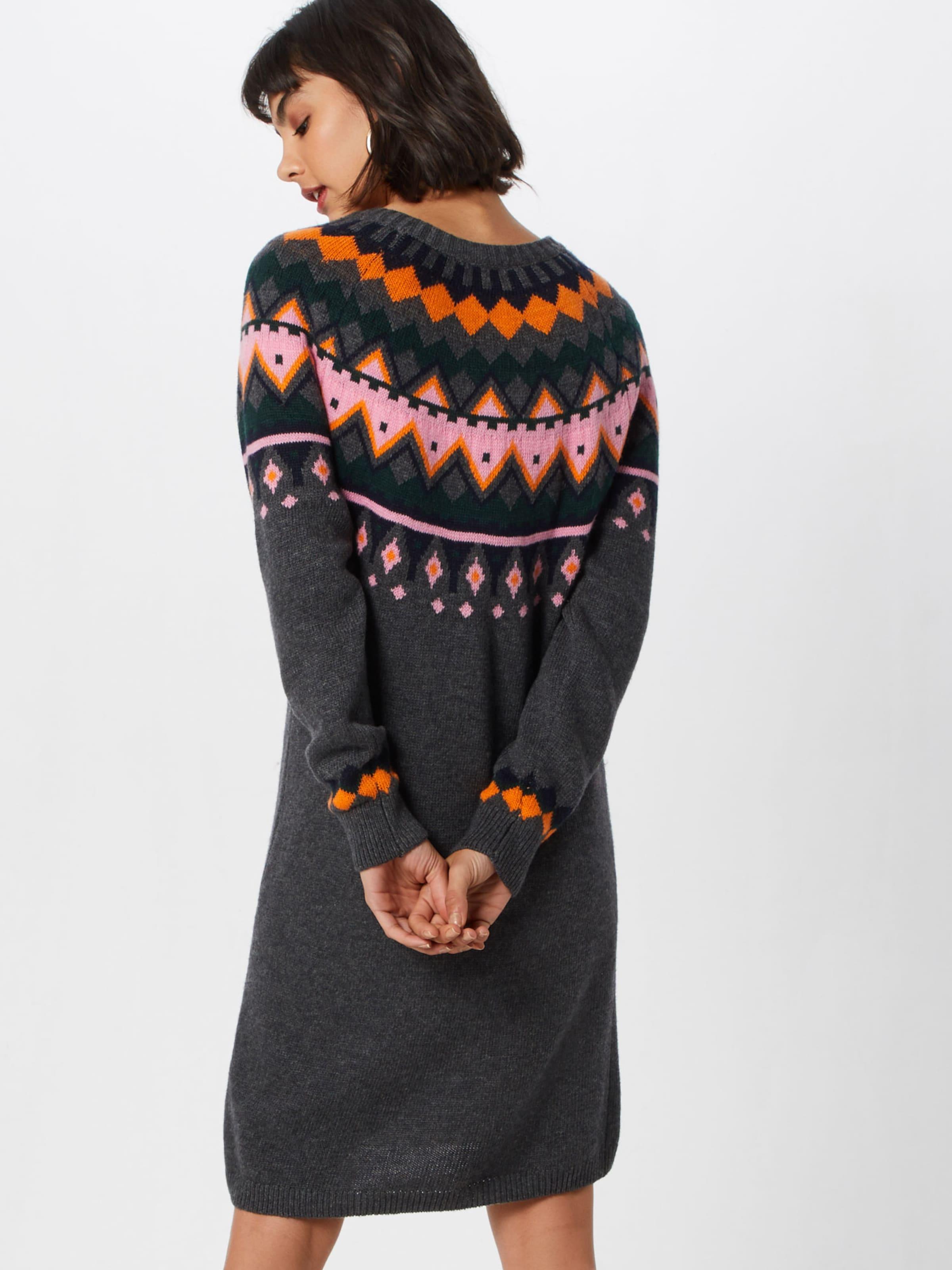 'nmlund Robe s De Couleurs Dress' O GrisMélange L En May Noisy Knit neck oCdtQBsrxh