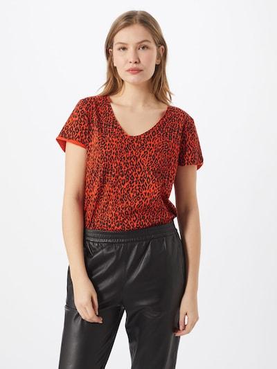 SET T-Shirt in rot / schwarz: Frontalansicht